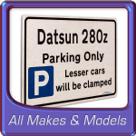 Gift for New Car Owner - Brushed Metal face Parking Signs - Car Models